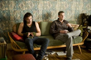 Picture shows: (l-r) AIDAN TURNER as Mitchell, RUSSELL TOVEY as George. Episode 1.