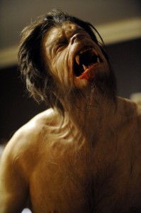 Picture shows: A model of George as a werewolf.