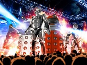 Daleks And Cybermen On Stage