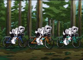 Star Wars Scout Troopers On Pushbikes, Family Guy