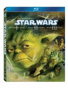 Star Wars Official Blu Ray cover for Prequel trilogy