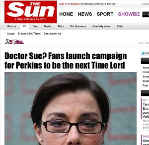 #DoctorSue – Doctor Who / Sue Perkins Twitter Campaign Updateassociated image