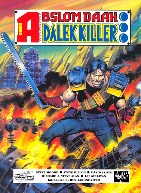 Abslom Daak - Dalek Killer Book - By Steve Moore - David Lloyd - Steve Dillon - Richard and Steve Allen - Lee Sullivan