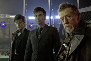 Day of the Doctor-The Three Doctors Matt Smith, John Hurt and David Tennant