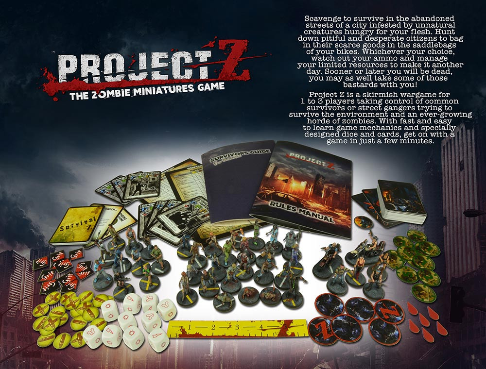 Project Z Starter Box Contents