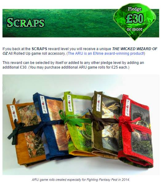 The Wicked Wizard of Oz Kickstarter - Scraps Reward Level