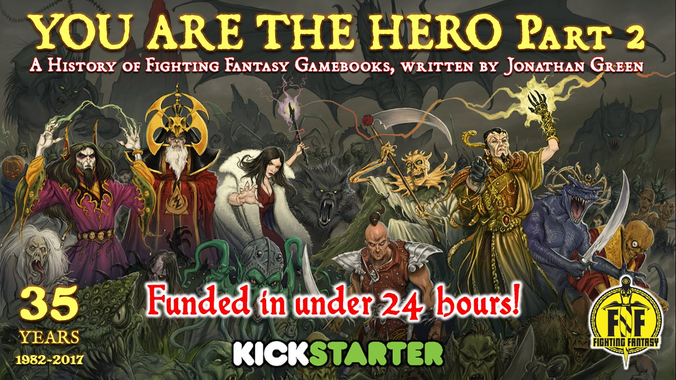 Fighting Fantasy You Are The Hero Vol2 Kickstarter
