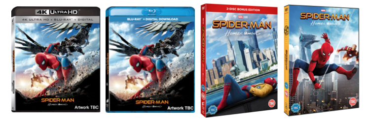 Spiderman 4k DVD Blu Ray Covers