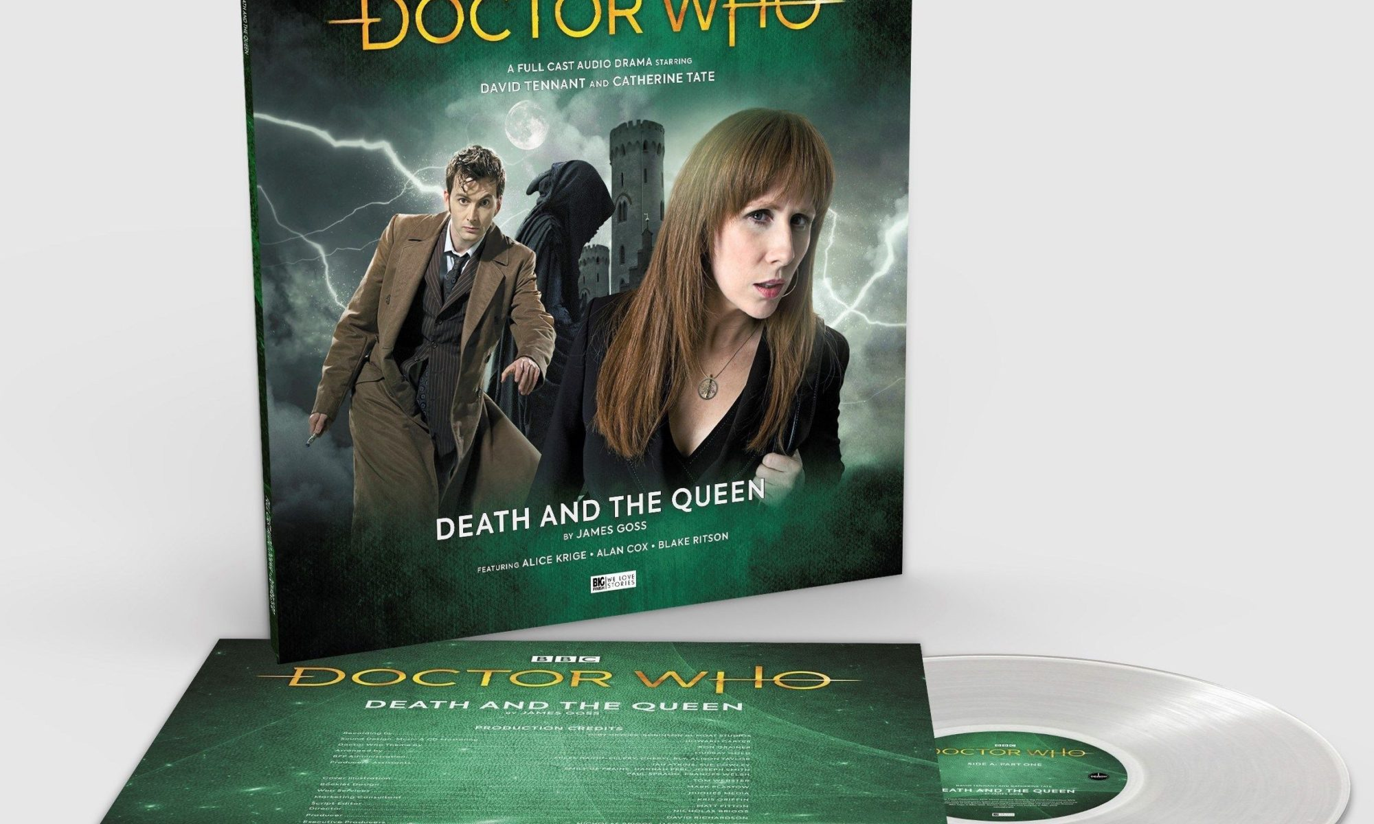 Doctor Who Death and the Queen Clear Vinyl