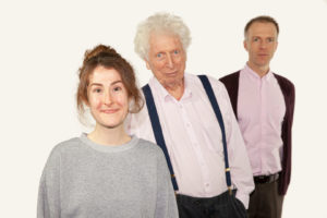 Sadie Miller, Tom Baker and Christopher Naylor
