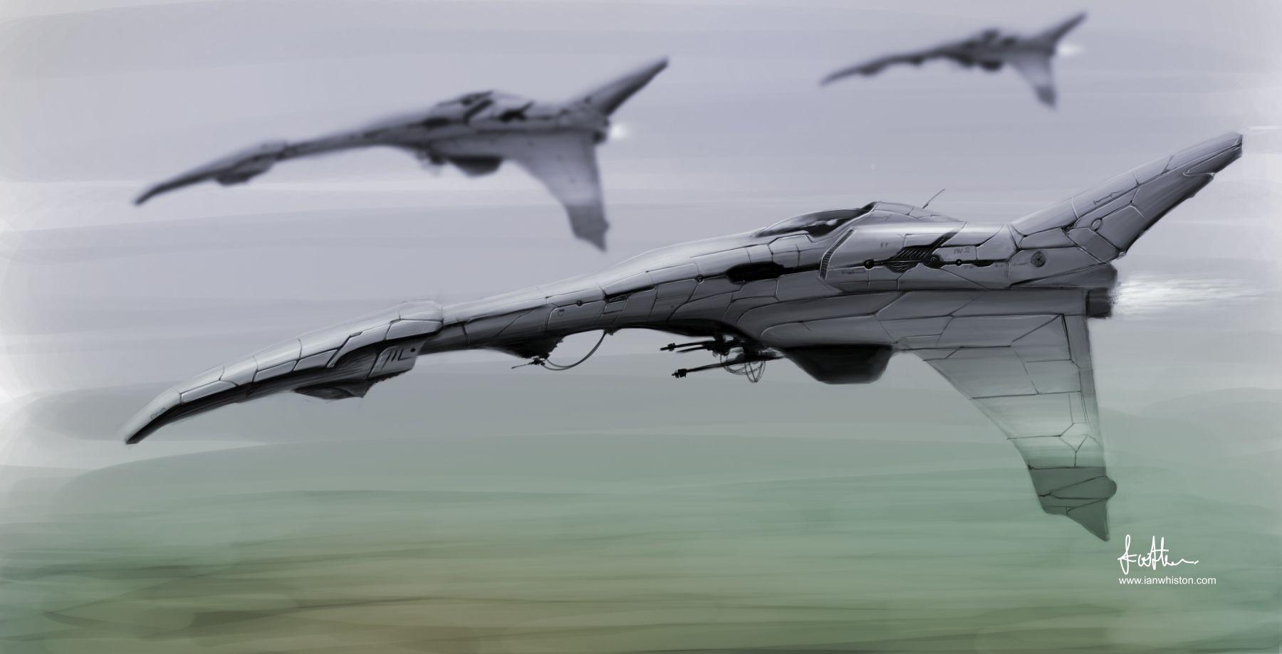 Of Infinite Worlds - Alien Fighter concept