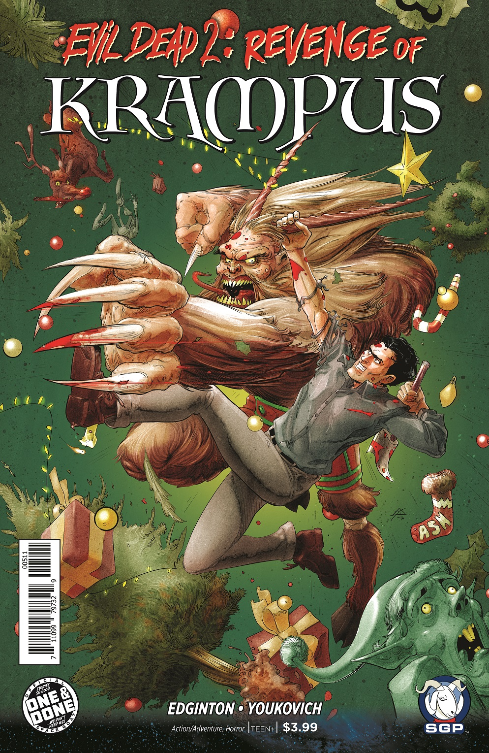 Evil Dead 2: Revenge of Krampus Comic Book Cover