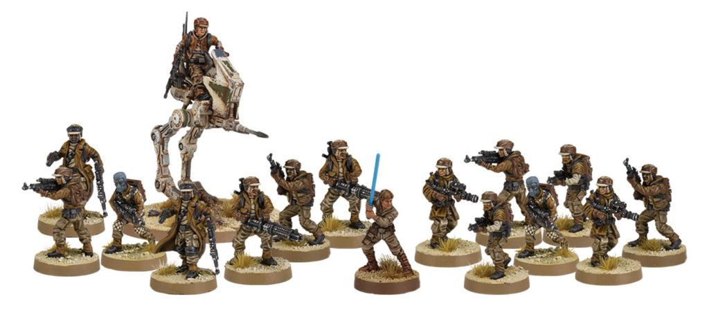 Star Wars Legion - Wargame Box Art Rebel Minis