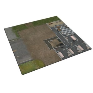 The Walking Dead Prison Grounds Play Mat