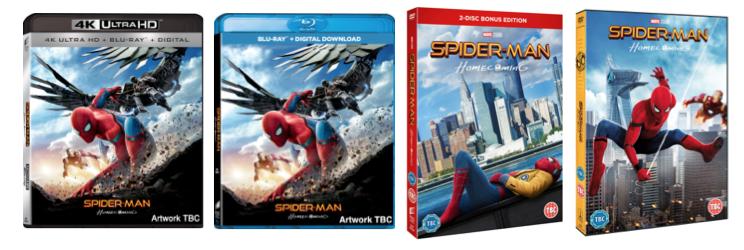Spiderman 4k DVD Blu Ray Covers