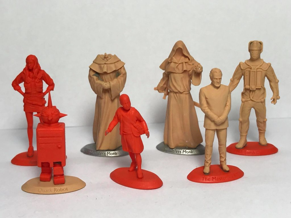 Warlord Games Exterminate Miniatures: Amy Pond, Quark, Headless Monks, Auton Girl, Delgado Master, Mondan Cyberman.