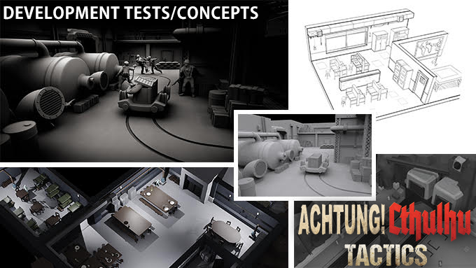 Achtung! Cthulhu Tactics - Action/RPG Video Game Test Render Montage