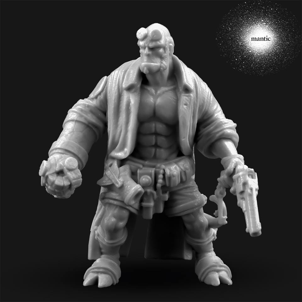 Mantic Games Hellboy Miniature Prototype