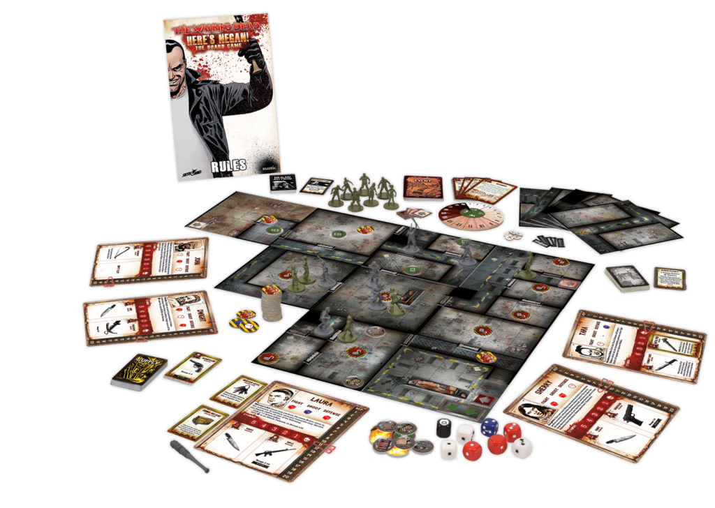 Here's Negan boardgame box contents