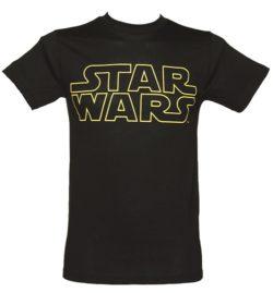 Men's Black Star Wars Logo T-Shirt