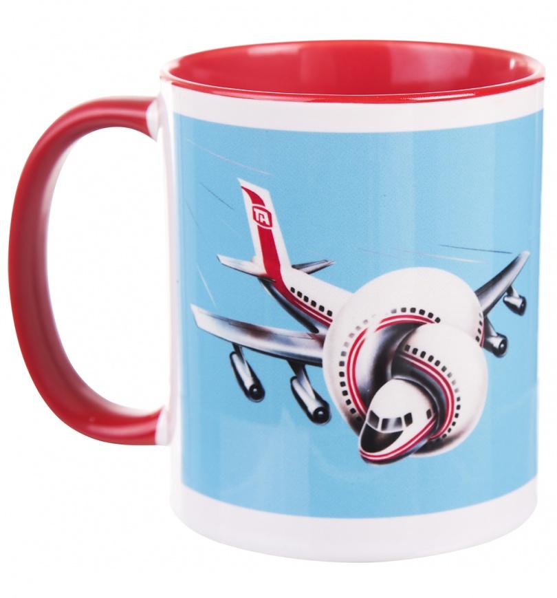 Airplane Movie Logo Mug with Coloured Handle