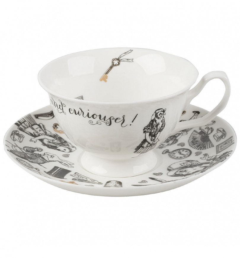 Alice In Wonderland Victoria & Albert Museum China Cup And Saucer