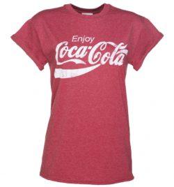 Women's Enjoy Coca-Cola Rolled Sleeve Boyfriend T-Shirt