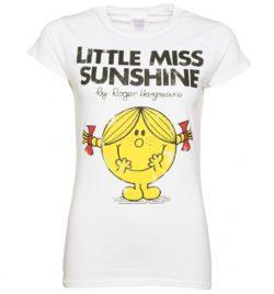 Women's White Little Miss Sunshine T-Shirt