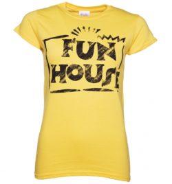 Women's Yellow Team Fun House Logo T-Shirt