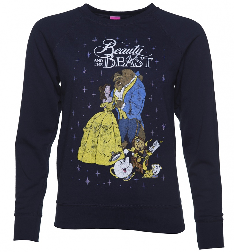 Womens Navy Classic Disney Beauty And The Beast Sweater Scifind