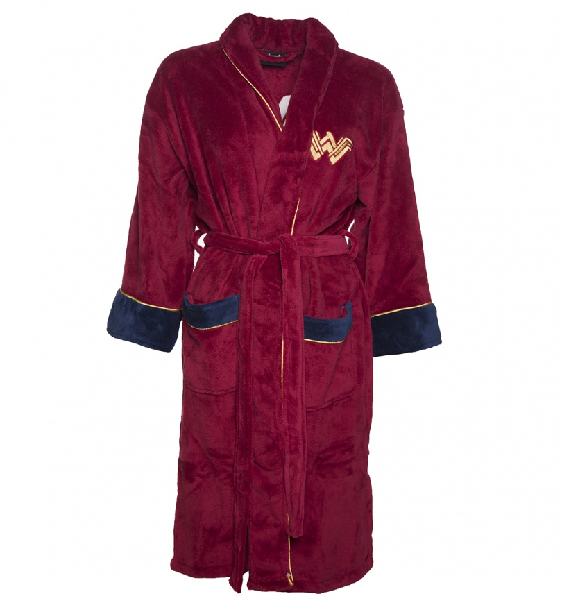 Women\'s Red Wonder Woman DC Comics Batman V Superman Dressing Gown ...