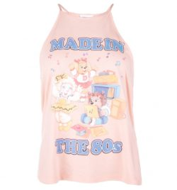 6d5e801bed Women's The Get Along Gang Made In The 80s Peach Flowy High Neck Tank