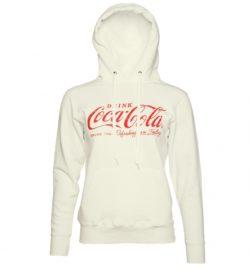 Women's White Drink Coca-Cola Logo Hoodie