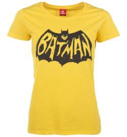 Women's Yellow Batman Logo T-Shirt