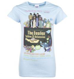 Women's Yellow Submarine Movie Poster Light Blue T-Shirt