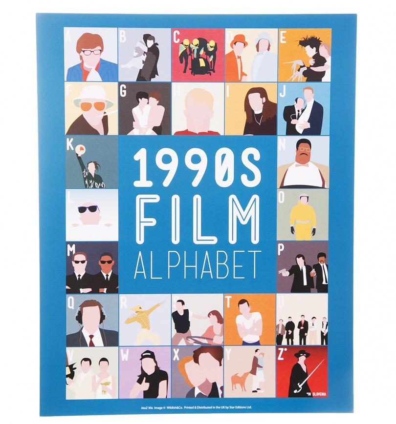 1990's Film Alphabet 11'' x 14'' Art Print