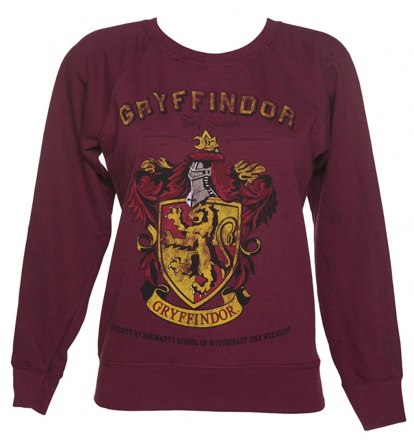 6b68f101b Women's Harry Potter Gryffindor Team Quidditch Sweater - SciFind