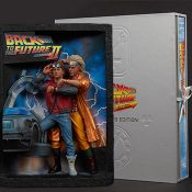 Back to the Future Sculpted Movie Poster and The Ultimate Visual History Collectors Edition Back to the Future Collectible Set